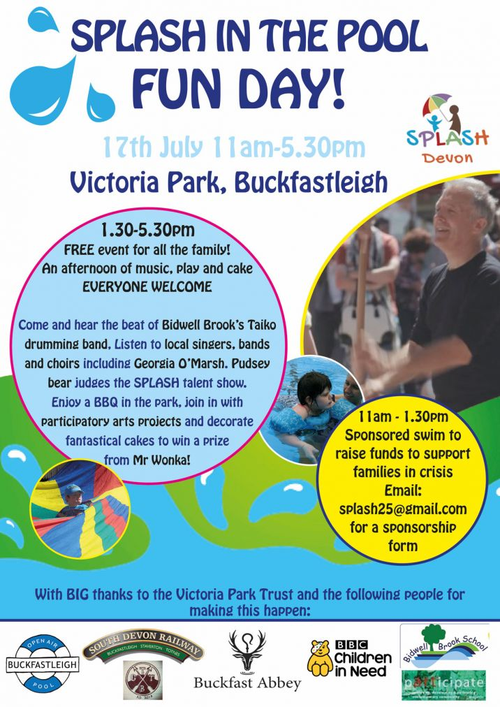 splash in the park fun day poster